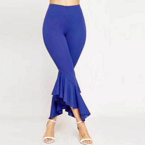 Women Boho Hippie High Waist Wide Leg Long Flared Bell Bottom Yoga Pants Trouser