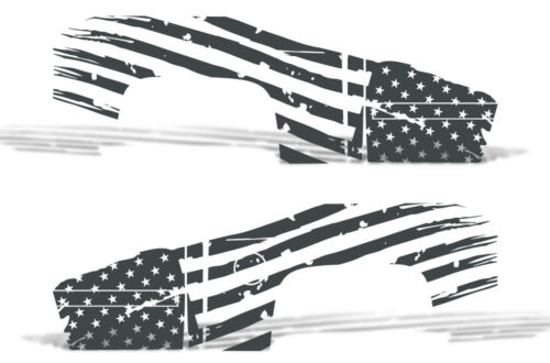 Vinyl Decal PATRIOT FLAG Wrap Kit for Chevy Silverado 1500//2500 2008-2013 GRAY