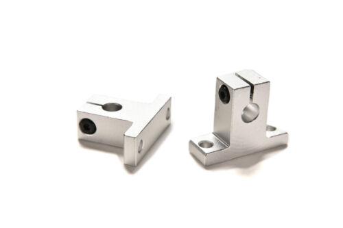 2 Pcs SK8 8mm Bearing CNC Aluminum Linear Rail Shaft Guide Support HI