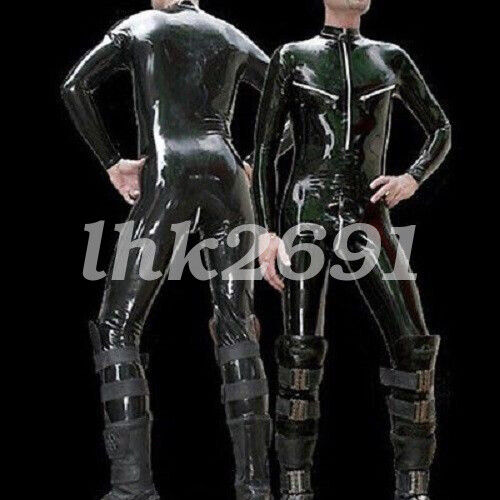 New style Latex Catsuit Rubber Men sports Handsome Suit 0.4mm Size S-XXL