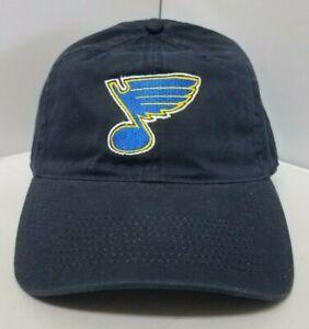 Details about Official NHL St  Louis Blues Black Adjustable Strap Hat