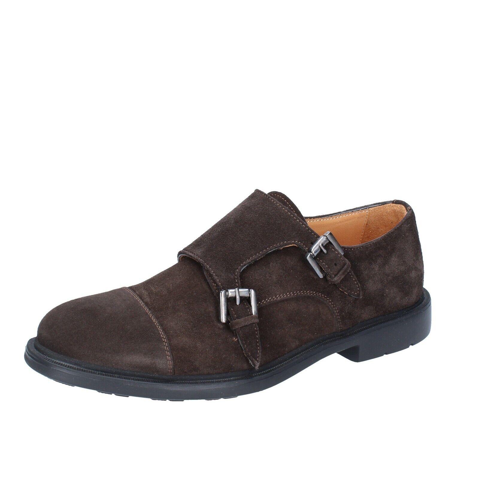 Para Hombres Zapatos ZENITH 10 (UE 43) ante marrón elegante BS616-43