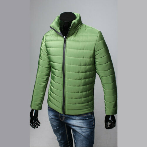 Men Winter Warm Coat Stand Collar light Outerwear Jacket Casual Overcoat