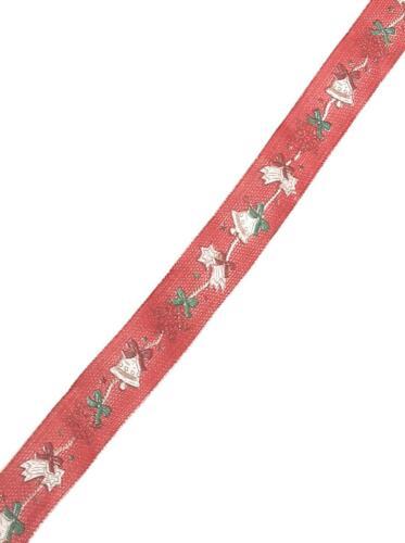 bucles banda 20m x 25mm rojo campana nieve estrella weihnachtsband #9238 1m//0, 20 €