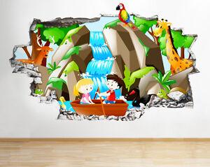 R131 caricature alien espace cool kids smashed applique murale 3D art stickers vinyl chambre