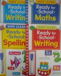Intelligente Essuyer Nettoyer Maths, Orthographe Et écrit Educational Books With Pen! Âge 4 Plus-afficher Le Titre D'origine