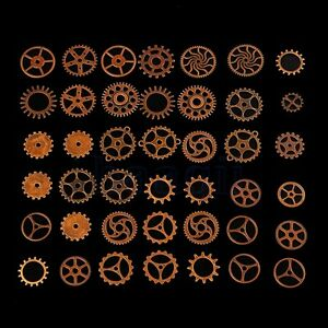 100g Copper Bronze Steampunk Gears Cogs Clock Parts Jewelry Crafts Old DIY MA