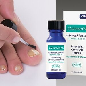 PediFix ClotrimazOil Topical Nail Fungus Treatment-Yellow thickened ...