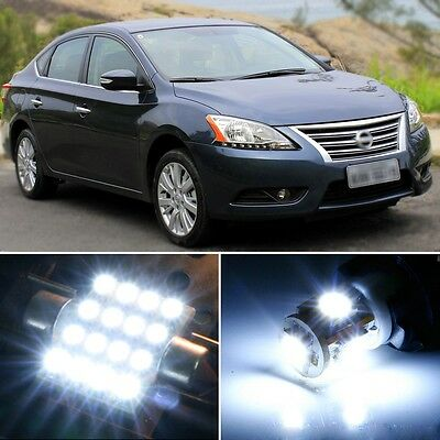6 x Premium Xenon White LED Lights Interior Package Kit for Nissan Sentra