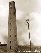 Old Shot Tower and Train, Dubuque, Iowa - Historic Photo Print