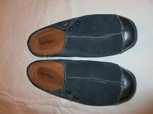 Naturalizer-Natural-Soul-44025401-mules-shoes-navy-blue-size-8-M-USED-EUC