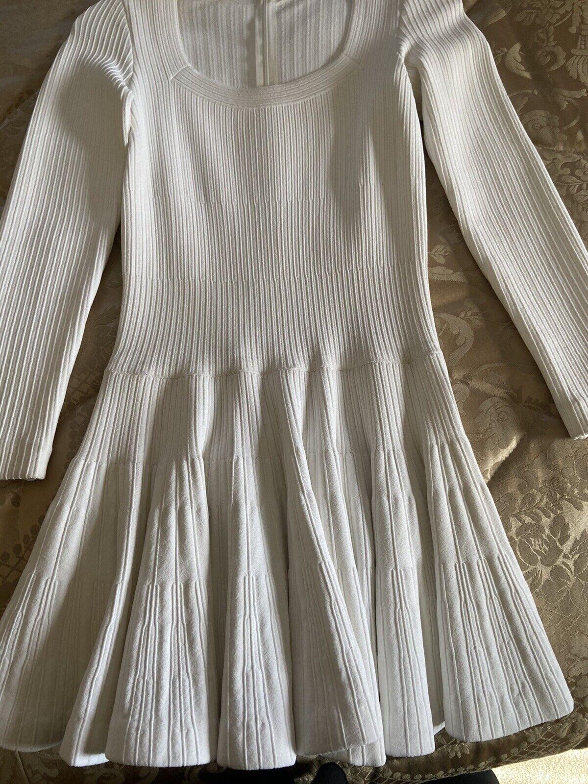 Azzedine Alaia White Long Sleeve Top Blouse Dress… - image 8