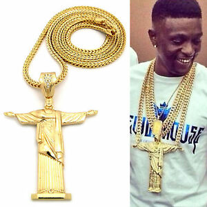 Mens hip hop rapper style large cross the redeemer pendant franco image is loading mens hip hop rapper style large cross the mozeypictures Image collections