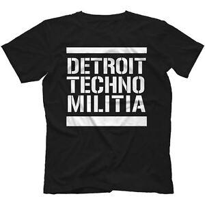 Detroit-Techno-Militia-T-Shirt-100-Cotton-Vinyl-909-Underground-Resistance