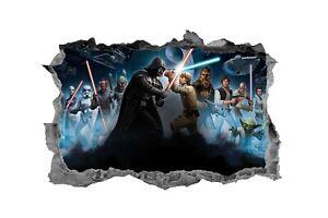 Star-Wars-Kids-Sticker-3D-Decal-Bedroom-Wall-Art-Mural