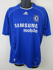 sale retailer 84657 db3be Details about Adidas 2006-08 Chelsea Football Shirt Home Soccer Jersey  Maglia Trikot L Large