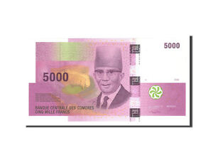 65-70 Undated Lovely Unc Km:18 Waterproof 2006 #113682 Comoros Shock-Resistant And Antimagnetic 5000 Francs