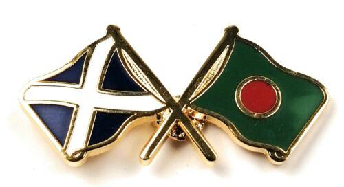 Escocia /& Bangladesh amistad con Solapa Pin Insignia Idea de Regalo Gratis Reino Unido P/&p