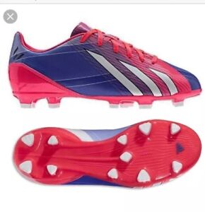 Youth-Adidas-F10-TRX-FG-J-Football-Soccer-Boots-Moulded-Studs-Turbo-U-K-5-New