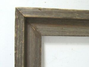 VINTAGE ART DECO RUSTIC WOOD PICTURE FRAME FOR PAINTING 16 1/2 X 12 1/2  INCH