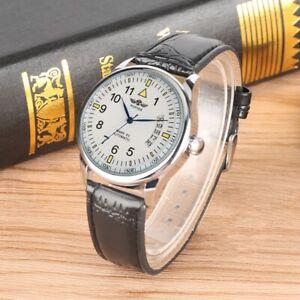 Casual-Winner-Brand-Watch-Men-039-s-Sport-Automatic-Mechanical-Wristwatch-Leather