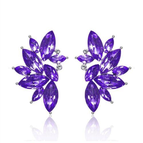 Fashion Women Wing Angel Earrings Crystal Rhinestone Ear Drop Dangle Stud Gifts