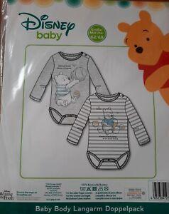 Baby langarm Body Jungen Set 62//68 Gr Disney Winnie Puuh 74//80 68//74