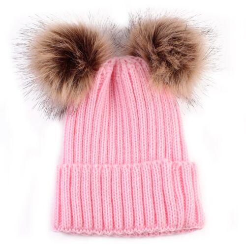 PD Damen Geflochten Strickmütze Baskenmütze Ski Ball Cap Baggy Winter Mütze Neu