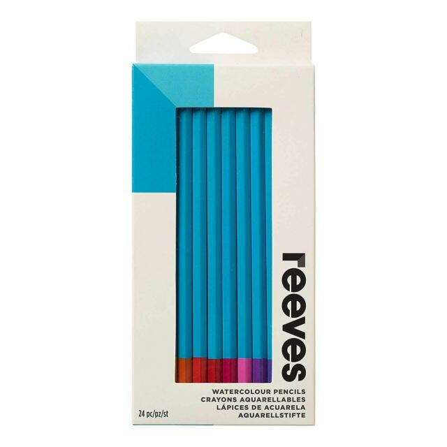 Reeves Set Of 24 Water Colour Art Sketching Drawing Water Soluble Pencils