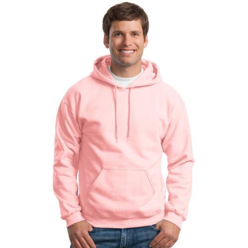 Hooded Sweatshirt Men/'s Adult Blank Hoodie Heavy Blend 8 oz Light Pink