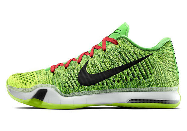 Nike Kobe 10 X Elite Coal Hearted Grinch ID QS Comfortable Comfortable and good-looking