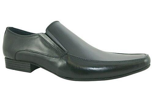 Lambretta 'Joey' On Men's Black Leather Slip On 'Joey' Casual or Formal Shoes f0744e