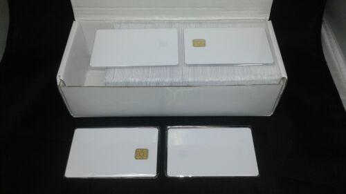 100 x CR80 30Mil SLE 4428 Contact IC Big Chip thermal PVC Smart Card fargo