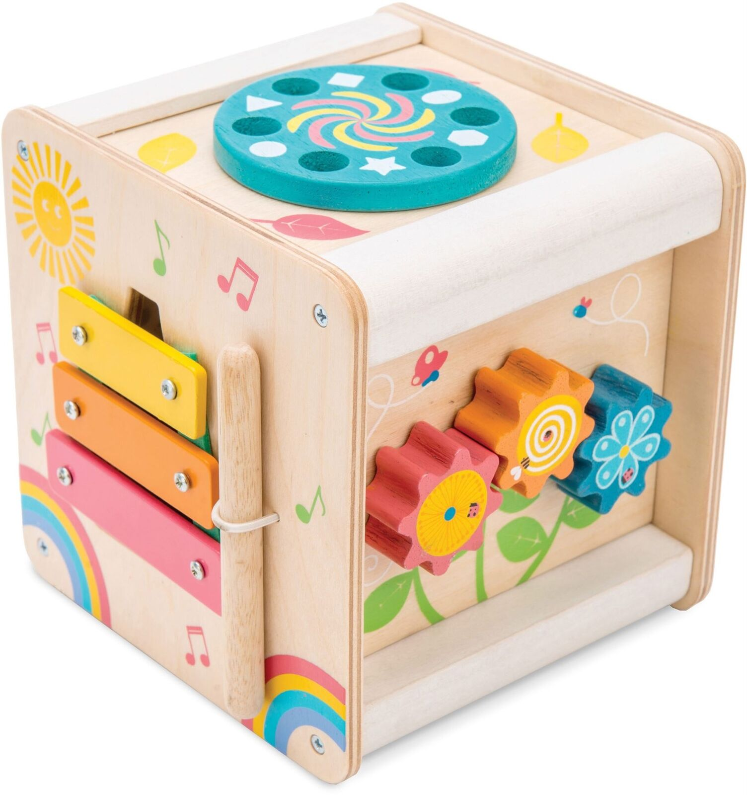 Le Toy Van PETILOU PETIT ACTIVITY CUBE Pre-School Wooden Toy BN