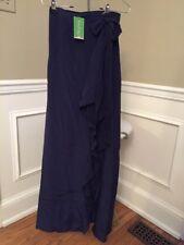 2e44b282f item 1 NWT Lilly Pulitzer $198 True Navy 100% Silk Berdine Wrap Skirt Size  2 -NWT Lilly Pulitzer $198 True Navy 100% Silk Berdine Wrap Skirt Size 2