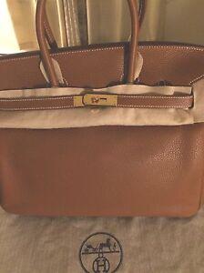 HERMES Birkin Bag 35cm Gold Togo Leather GHW ~ 100% AUTHENTIC  62d8781265af0