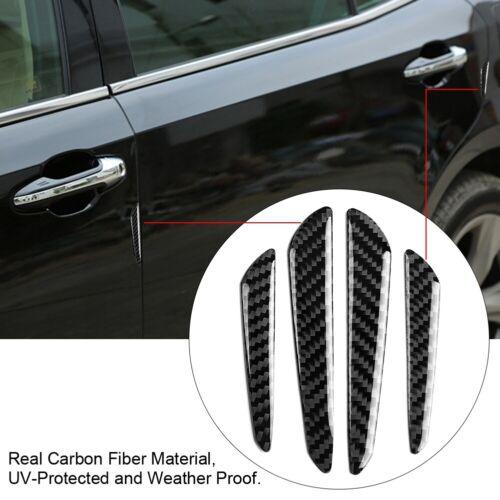 4X Carbon Fiber Car Door Edge Guard Bumper Anti-Rub Protector Strips Trim Cover