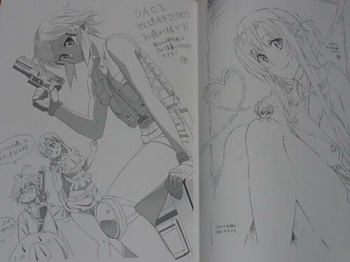 SWORD ART ONLINE 2 Animation Staff Illustration art book SAO2 STAFF COLLECTION