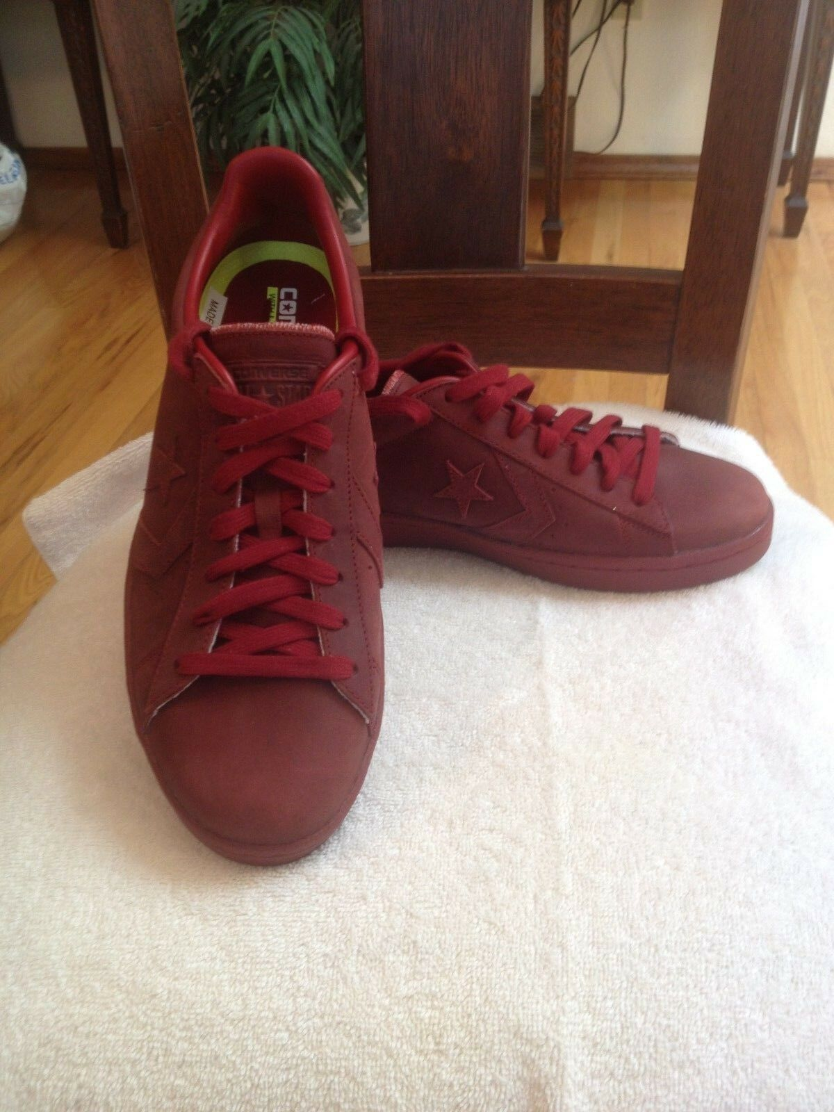 Converse Pro Leather Mono Low Top Sneakers Size 9.5 Brick Alley