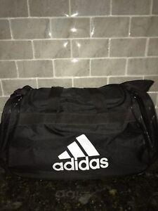 NWT ADIDAS DIABLO SMALL DUFFEL Gym Bag For Women//Men//Big Boy Classic Black//White