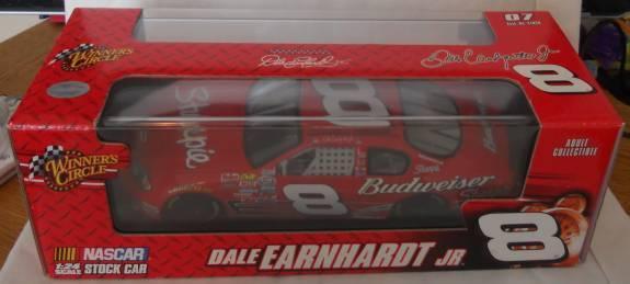 2007 DALE EARNHARDT JR  8 SHARPIE / BUDWEISER 1:24 w/DISPLAY CASE