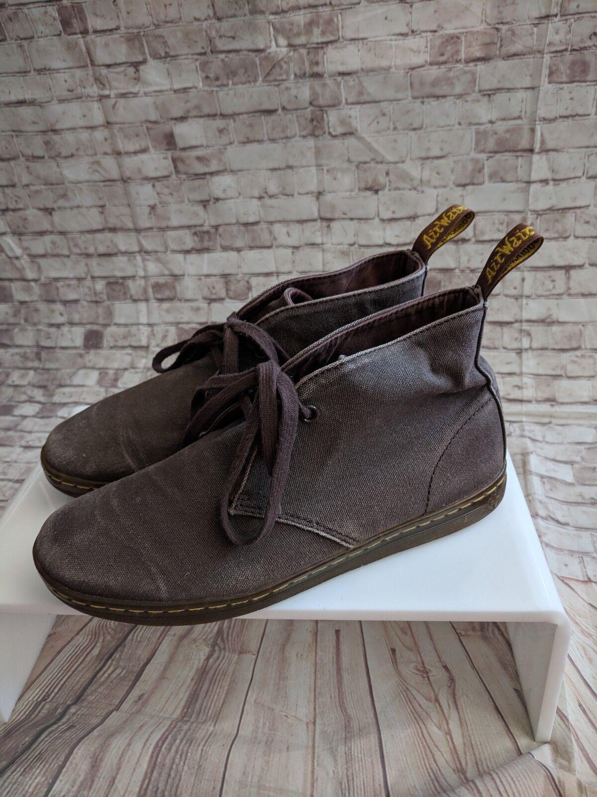 Dr. Martens Chukka Boots 9 Brown Boots Chukka men's canvas c5b265