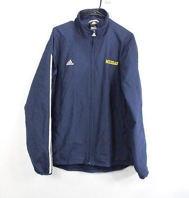 100% Vero Adidas Uomo Medio Michigan Wolverines Team Emesso Zip Giacca A Vento