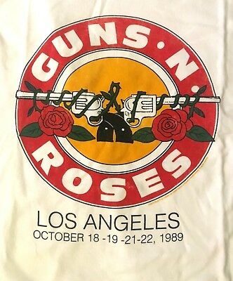 GUNS N' ROSES cd lgo Appetite for Destruction L.A. BULLET Official SHIRT LRG new
