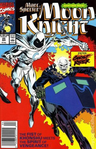Marc Spector Moon Knight #25 FN 1991 Stock Image