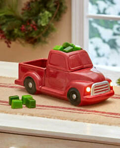 Farmhouse-Retro-Vintage-Red-Pickup-Truck-Tart-Warmer-or-Spring-Summer-Tart-Sets