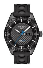 New Tissot PRS516 Black Dial Mens Sport Rubber Strap Watch T1004303720100