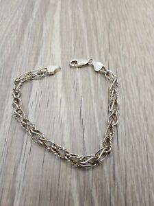 Vintage sterling silver twisted serpentine anklet.
