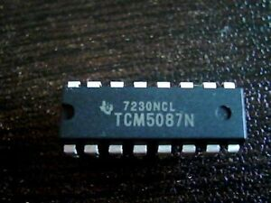 1x TI TCM5089N DTMF TONE ENCODER IC 16-DIP