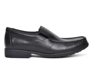 Black Leather School Shoes UK Size 4 F